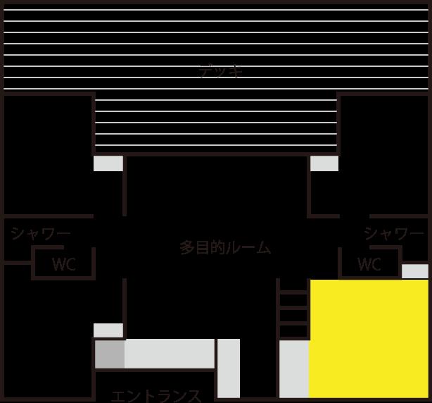和室(8畳)見取り図