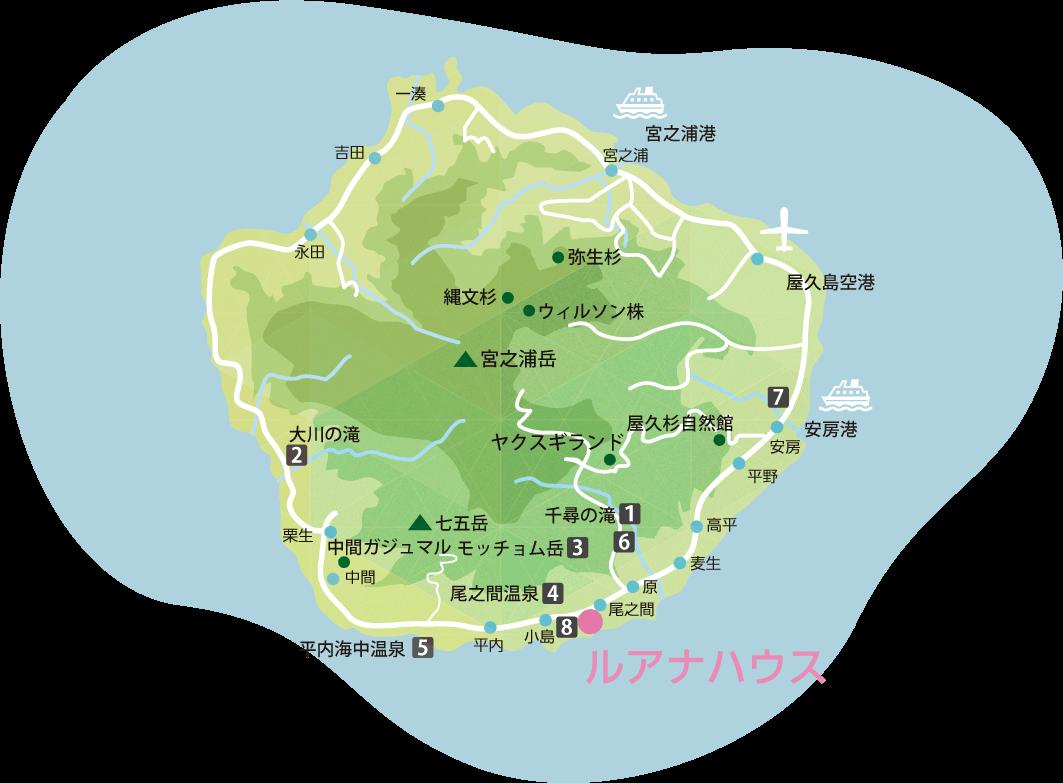 屋久島地図