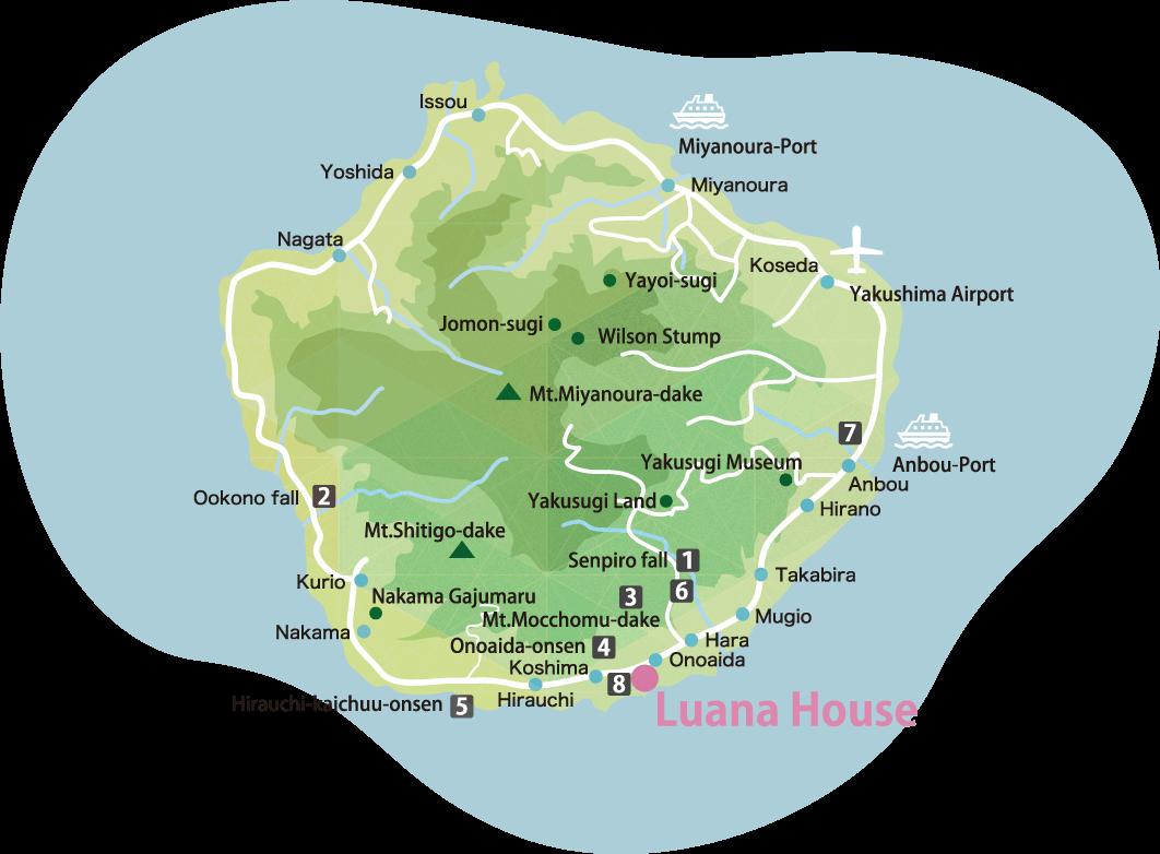 Yakushima Map