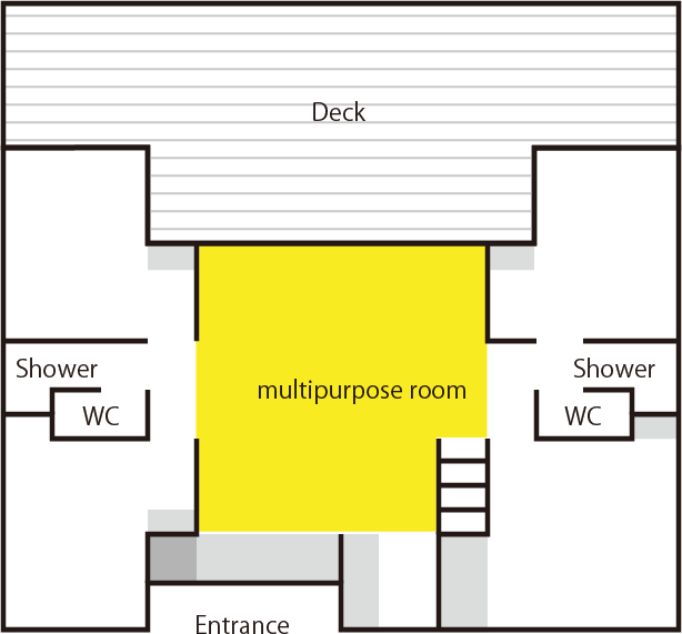 Multipurpose room floor plan